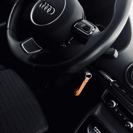 Porte clef en cuir Hévrik sur clef Audi