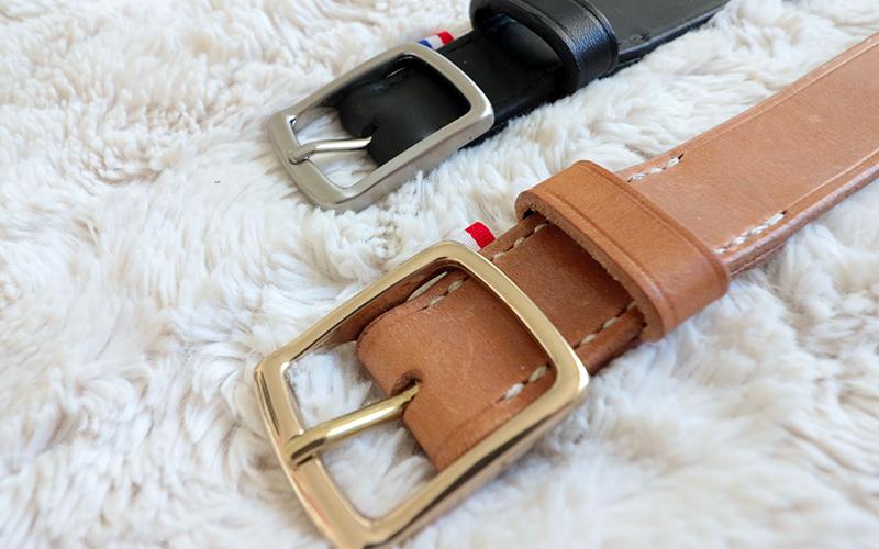 ceinture en cuir Léone, fabrication française et artisanale